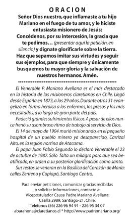Oración P. Mariano