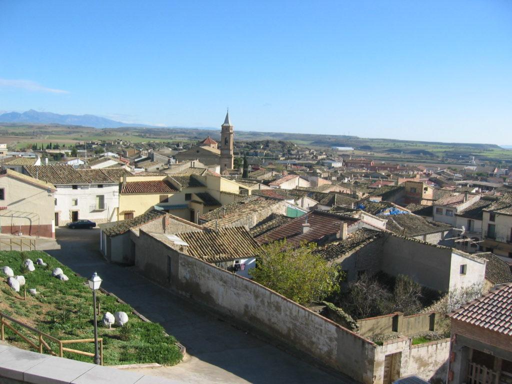 El actual Almudévar, pueblo de la provincia aragonesa de Huesca, donde nació el V. P. Mariano.